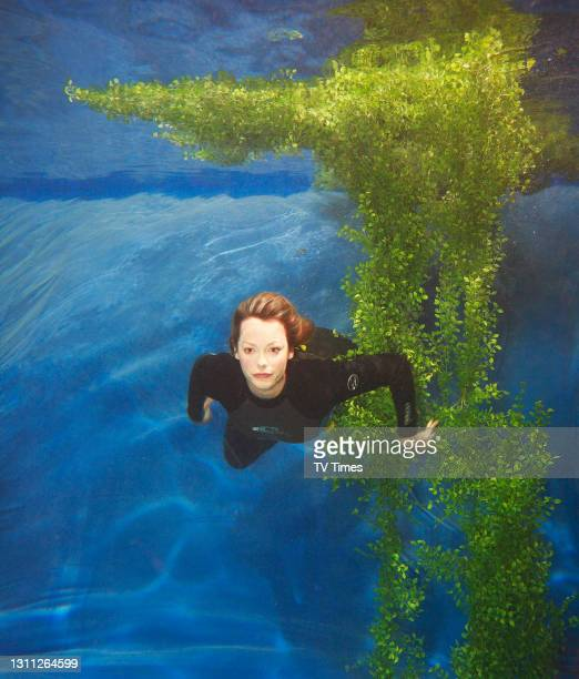 Television presenter Kate Humble photographed swimming underwater, on July 10, 2006.