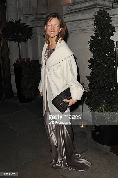 Television presenter Katie Derham attends the AUDI Arrivals at The Morgan's, awards hosted by Piers Morgan at Mandarin Oriental Hyde Park on December...