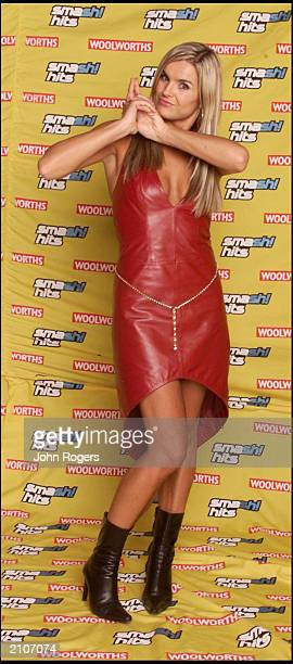 Television presenter Katy Hill at the Smash Hits Poll Winners Party London Arena London December 10 2000 She was a presenter at the awards