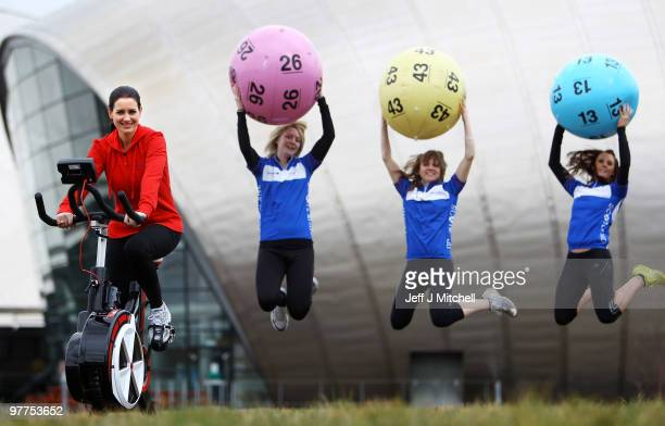 Television presenter Kirsty Gallacher launches the Scottish leg of The National Lottery�s Britain Has Ball Tour on March 16 2010 in Glasgow Scotland...