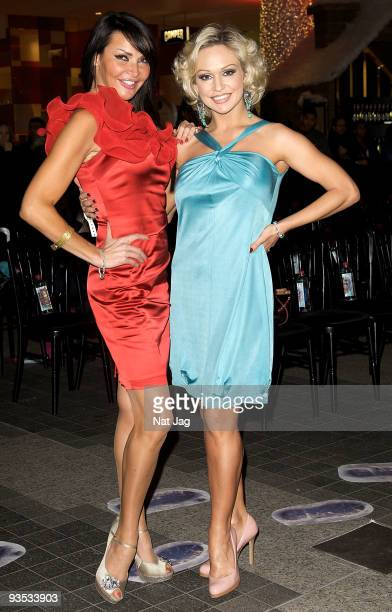 Television presenter Lizzie Cundy and dancer Kristina Rihanoff attend the opening of the new Ed Hardy store at Westfield on December 1, 2009 in...