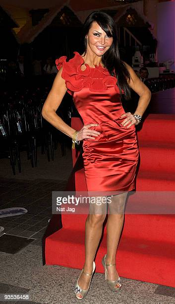 Television presenter Lizzie Cundy attends the opening of the new Ed Hardy store at Westfield on December 1, 2009 in London, England.