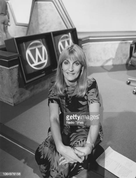 Television presenter Lynn Faulds Wood pictured on the set of the show 'Watchdog' July 1985