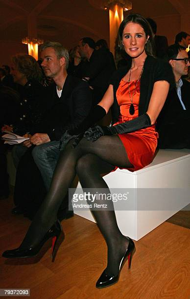 Television presenter Mareile Hoeppner attends the Michalsky fashion show during the MercedesBenz Fashionweek Berlin autumn/winter 2008 on January 29...