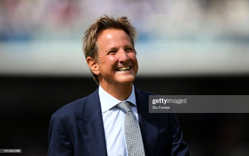 Television presenter Mark Nicholas pictured during day two of the 2nd Specsavers Test Match between England and India at Lord's Cricket Ground on August 10, 2018 in London, England.