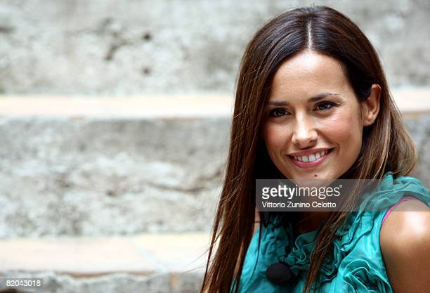 Television Presenter Michela Coppa attends the Giffoni Film Festival on July 23 2008 in Giffoni Italy