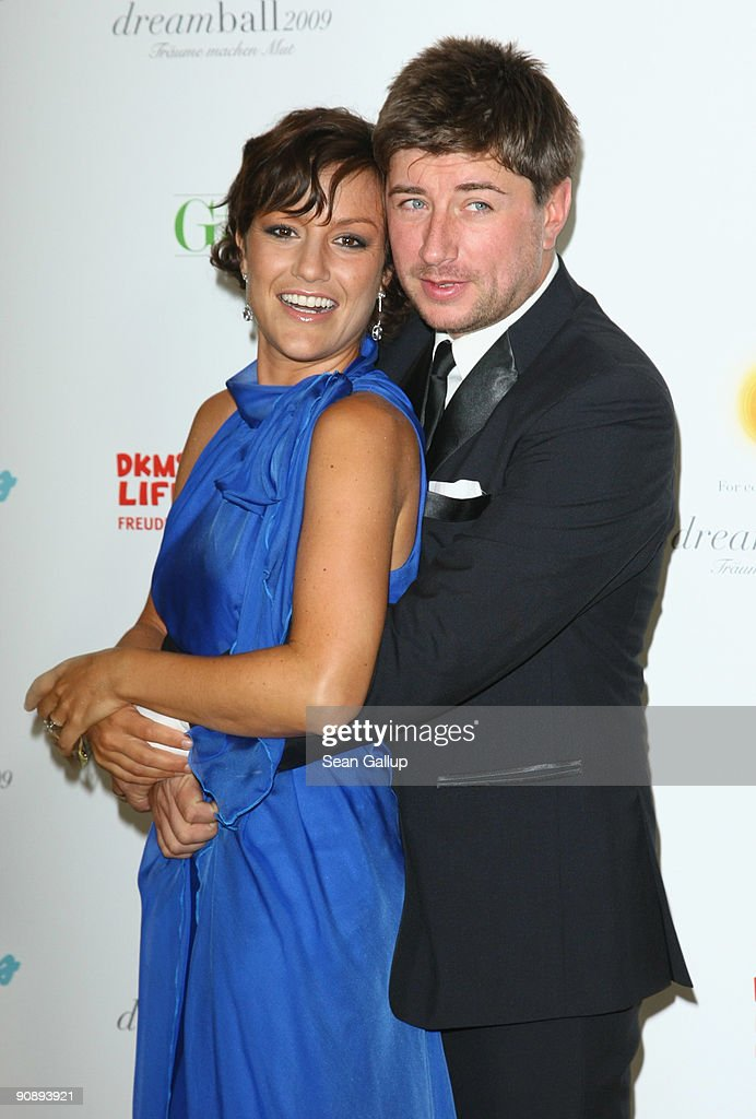 Television presenter Miriam Pielhau and Thomas Hanreich attend the dreamball 2009 charity gala at the Ritz-Carlton on September 17, 2009 in Berlin, Germany.