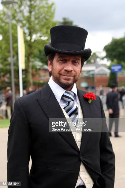 Television presenter Nick Knowles arrives for the second day at Ascot Racecourse Berkshire