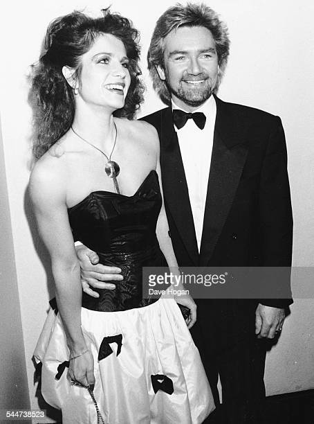 Television presenter Noel Edmonds and his wife Helen attending the British Rock Industry Awards London February 1988