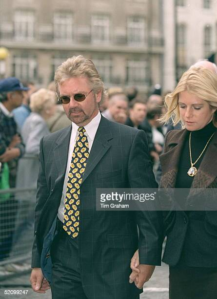 Television Presenter Noel Edmonds With His Wife Attending The Memorial Service For Jill Dando In London
