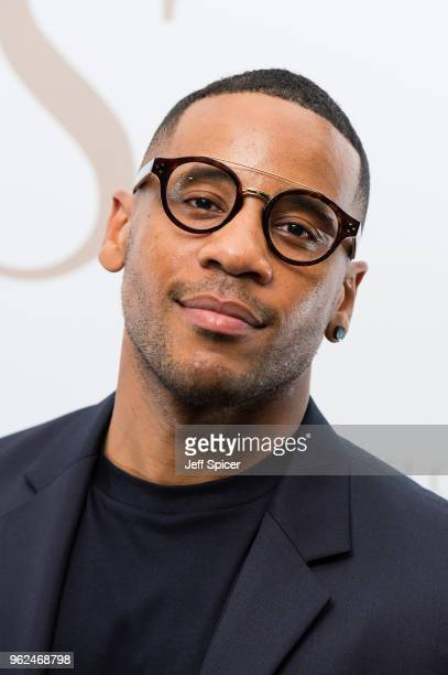 Television presenter Reggie Yates attends the inaugural International Fashion Show at Rosewood Hotel on May 25 2018 in London England