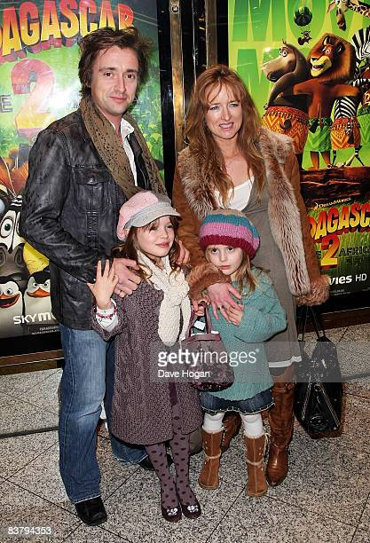 Television presenter Richard Hammond and wife Mindy Hammond are joined by their children Izzy and Willow to attend the UK premiere of Madagascar...