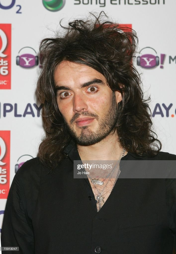 Television presenter Russell Brand poses in Awards Room at the Q Awards 2006 held at the Grosvenor House Hotel on October 30, 2006 in London, England.