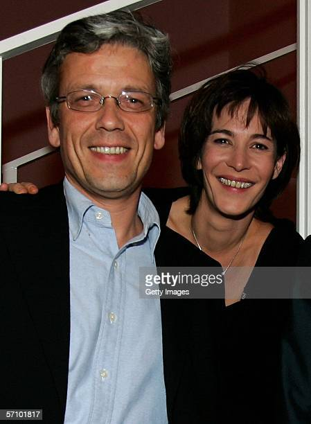 Television presenter Sandra Maahn and her friend attend the LEAD Awards 2006 at the Deichtorhallen on March 15 2006 in Hamburg Germany