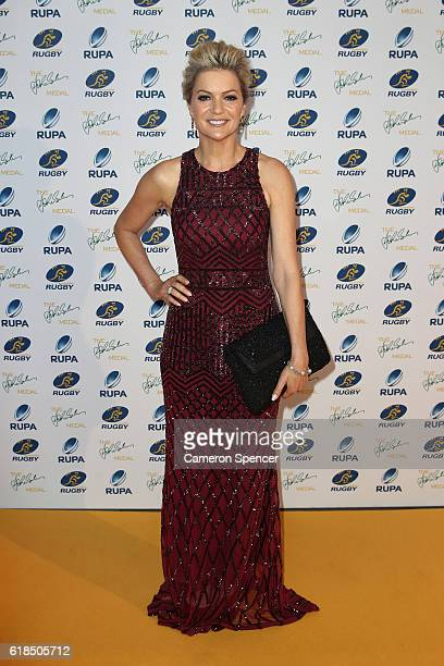 Television presenter Sandra Sully arrives at the 2016 John Eales Medal at Royal Randwick Racecourse on October 27 2016 in Sydney Australia