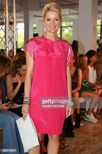 Television presenter Sandra Sully attends the Ginger Smart show at MercedesBenz Fashion Week Australia 2014 at Level 1 55 Mentmore Ave Rosebery on...