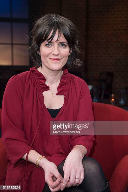 Television Presenter Sarah Kuttner attends the 'Koelner Treff' TV Show at the WDR Studio on March 4 2016 in Cologne Germany