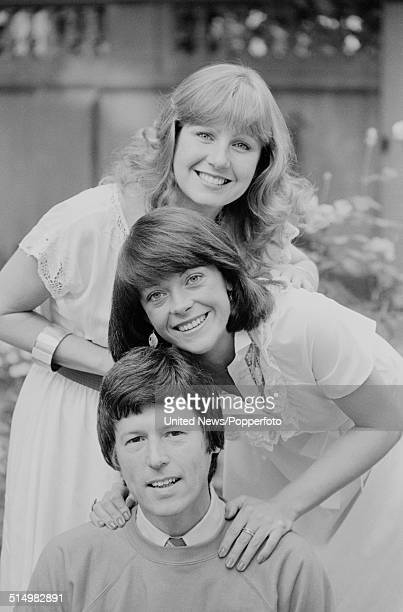 BBC television presenters Sarah Greene Isla St Clair and John Craven posed together in London on 9th September 1981