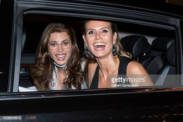 Television producer, CEO of Full Picture Desiree Gruber and model, television personality Heidi Klum are seen leaving Harper's BAZAAR ICONS Party at...