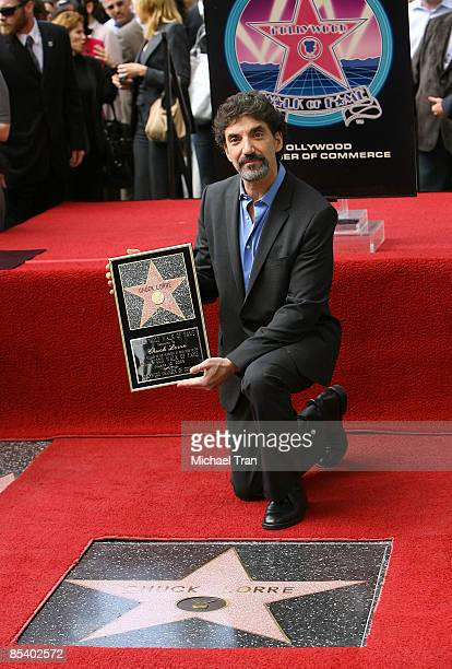 Television Producer Chuck Lorre attends the ceremony honoring him with a star on the Hollywood Walk of Fame on March 12 2009 in Hollywood California