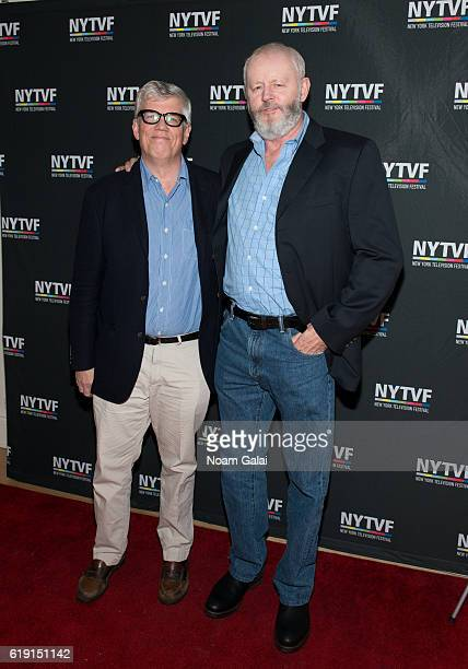 Television producer Peter Tolan and Actor David Morse attend the NYTVF Development Day panels during the 12th Annual New York Television Festival at...