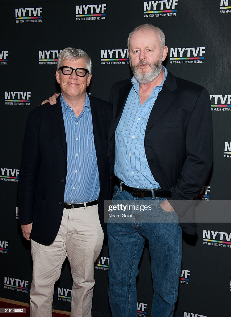 Television producer Peter Tolan and Actor David Morse of the American television series 'Outsiders' attend the NYTVF Development Day panels during the 12th Annual New York Television Festival at Helen Mills Theater on October 29, 2016 in New York City.