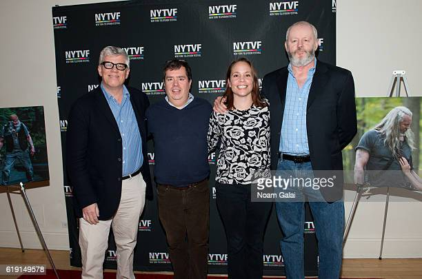 Television producer Peter Tolan founder of New York Television Festival Terence Gray Kristen Baldwin and actor David Morse attend the NYTVF...