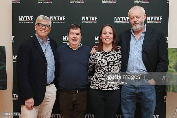 Television producer Peter Tolan founder/executive director of New York Television Festival Terence Gray Kristen Baldwin and actor David Morse attend...