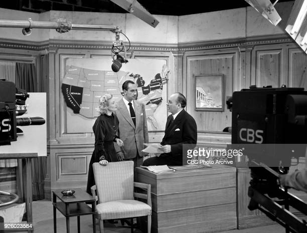 CBS television program America Speaks hosted by political pollster Dr George Gallup New York NY Image dated September 26 1948