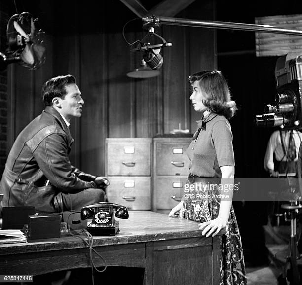 CBS television program Danger episode The Face of Fear featuring actors Sidney Lumet and Lee Grant New York NY Image dated August 26 1952