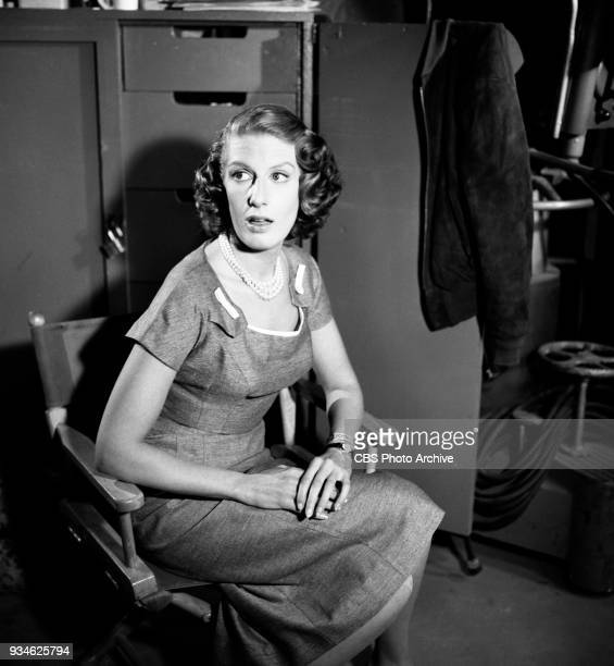 CBS television program Playhouse 90 Episode The Hidden Image New York NY Pictured is Nancy Marchand Image dated November 11 1959