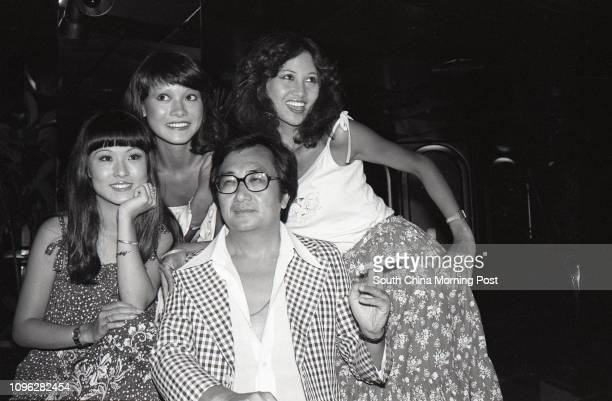 Television programme host Louis Lo Yuen with Angela Chan Marina Liu and Eburla Yick of Commercial Television's late night programme 'Hello Late...