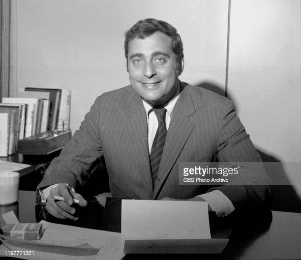 CBS television programming vice president Fred Silverman seated at desk February 3 1970 New York NY