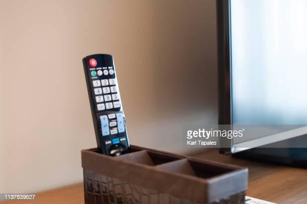a television remote control - controllato a distanza foto e immagini stock
