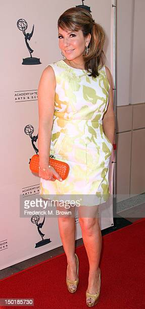 Television reporter Ana Garcia attends The Academy Of Television Arts Sciences 64th Los Angeles Area Emmy Awards at the Leonard H Goldenson Theatre...