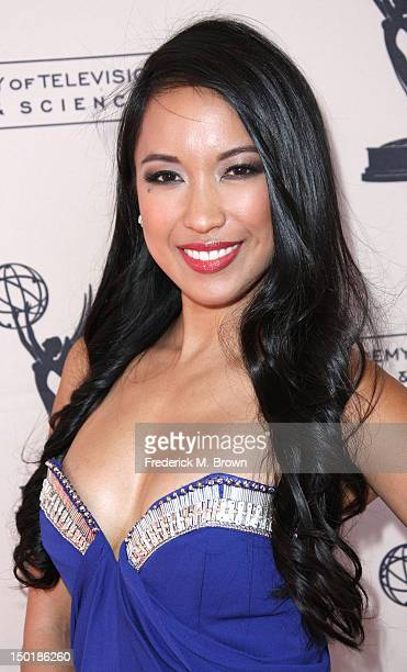Television reporter Cyndee San Luis attends The Academy Of Television Arts Sciences 64th Los Angeles Area Emmy Awards at the Leonard H Goldenson...