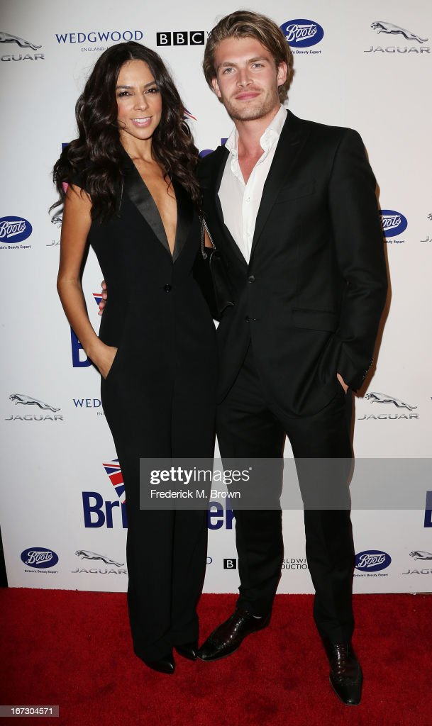 Television reporter Terri Seymour (L) and Clark Mallon attend the launch of the Seventh Annual Britweek Festival 'A Salute to Old Hollywood' on April 23, 2013 in Los Angeles, California.