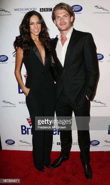 Television reporter Terri Seymour and Clark Mallon attend the launch of the Seventh Annual Britweek Festival 'A Salute to Old Hollywood' on April 23...