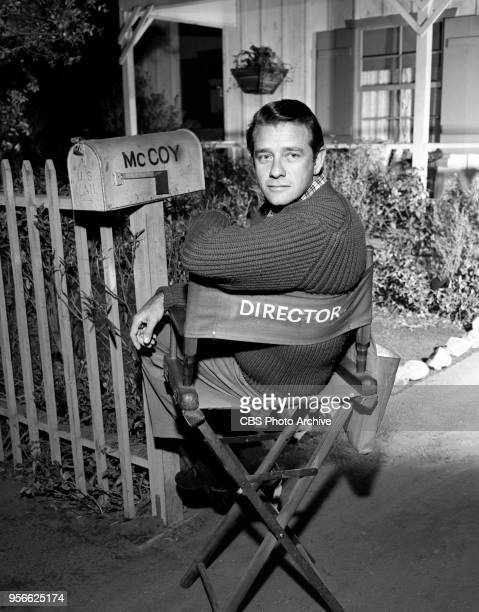 CBS television rural comedy The Real McCoys Episode Theater In The Barn originally broadcast April 6 1961 Pictured is Richard Crenna sitting in a...