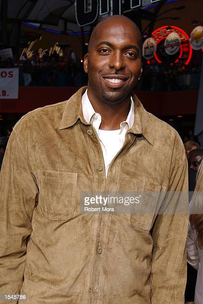 Television show host/former NBA basketball player John Salley attends the world premiere screening of Universal Pictures'' Undercover Brother at...