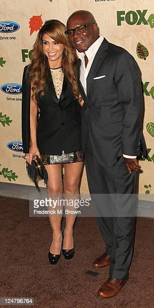 Television show judges Paula Abdul and L A Reid attend The FOX FallEco Casino Party at The Bookbindery on September 12 2011 in Culver City California