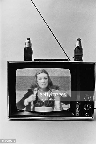 A television showing American actress and comedian Jane Curtin appearing on 'Saturday Night Live' USA March 1979