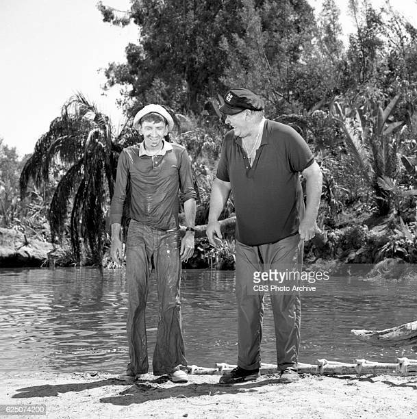 CBS television situation comedy program Gilligan's Island episode 'Home Sweet Hut' Filmed at the lagoon CBS Studio Center Studio City CA Image date...