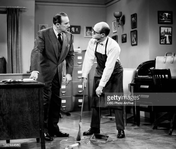 CBS television situation comedy The Box Brothers Pictured from left is Gale Gordon and Bob Sweeney Image dated October 9 1956 Los Angeles CA
