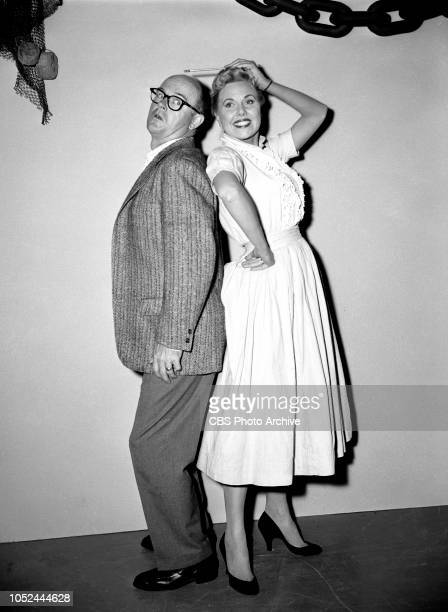 CBS television situation comedy The Box Brothers Pictured from left is Bob Sweeney and actress Joan Carey Image dated October 9 1956 Los Angeles CA