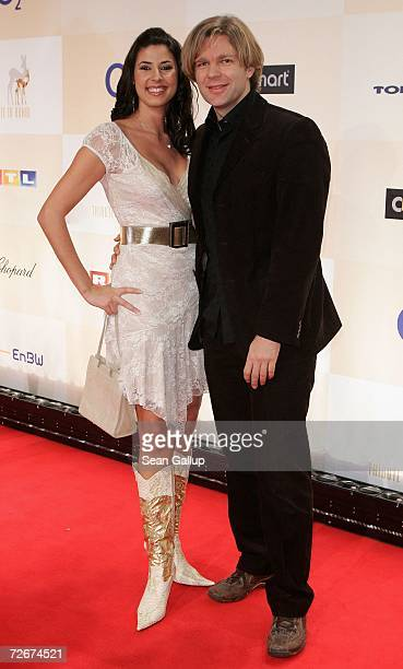 Television sports host Michael Steinbrecher and Natascha Berg attend the Tribute to Bambi charity gala traditionally held a night before the annual...
