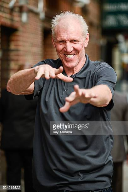 Television sportscaster Bill Walton enters 'The Late Show With Stephen Colbert' taping at the Ed Sullivan Theater on April 25 2016 in New York City