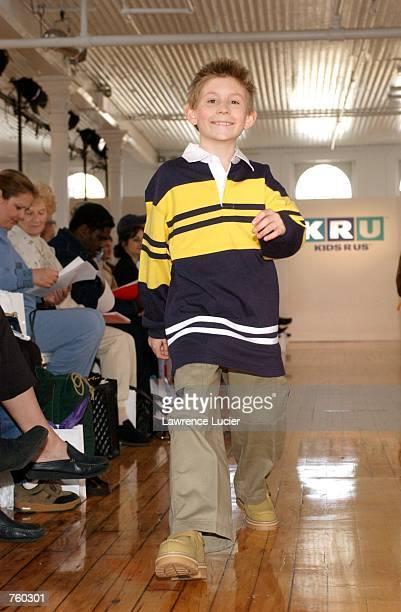 Television star Erik Per Sullivan participates in the Fall 2002 Kids R Us fashion runway show April 11 2002 in New York City Sullivan wears a...