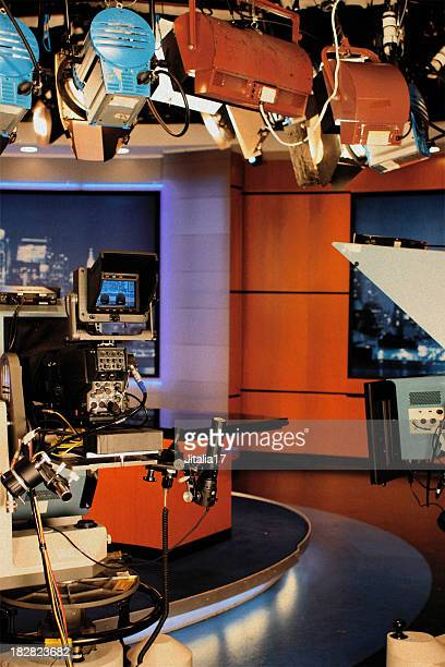 television studio - news set - stage set stock pictures, royalty-free photos & images