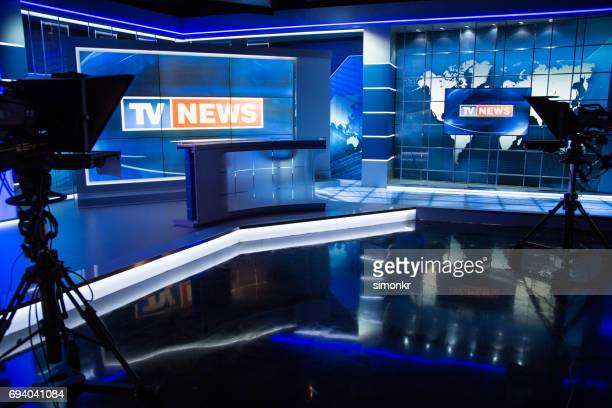 television studio - teleprompter stock pictures, royalty-free photos & images